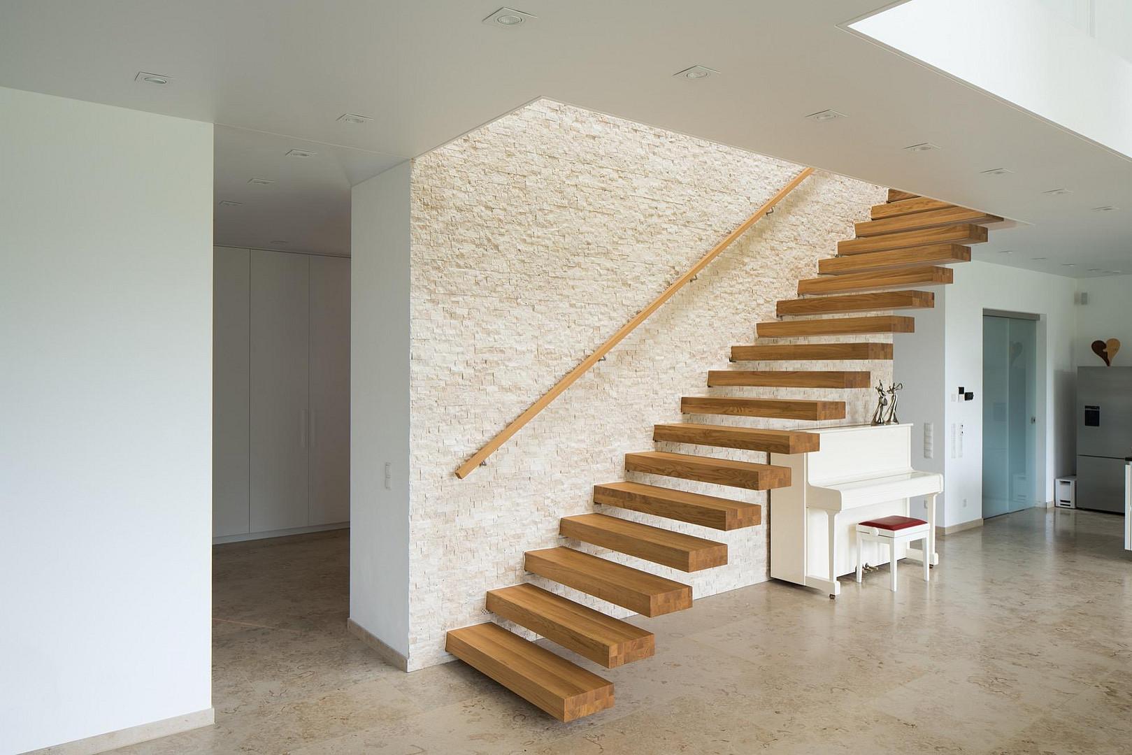 Wunderbar Schwebende Treppe Dekoration Von Schwebende-stufen-moderne-treppe-kragwerk
